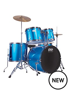 performance-percussion-full-size-5-piece-drum-kit-ndash-blue