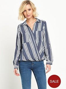 river-island-stripe-wrap-blouse