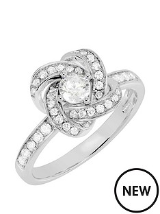 tresor-paris-allure-white-crystal-and-gold-plated-sterling-silver-knot-ring