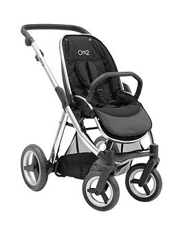 Babystyle Oyster Max Pushchair Chassis Without Hood  Mirror Finish