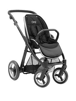 Babystyle Oyster Max Pushchair Chassis Without Hood  Black Satin