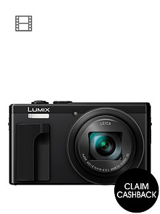 panasonic-lumix-tz80nbspsuper-zoom-digital-camera-4k-ultra-hd-181-megapixel-30xnbspoptical-zoom-wi-fi-evf-3-inchnbsplcdnbsptouch-screen-with-pound30-cashbacknbsp-black