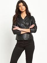 Biker Sleeve Leather Jacket