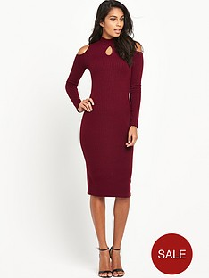 v-by-very-key-hole-ribbed-jersey-midi-dressnbsp