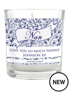 personalised-floral-willow-nan-scented-candle