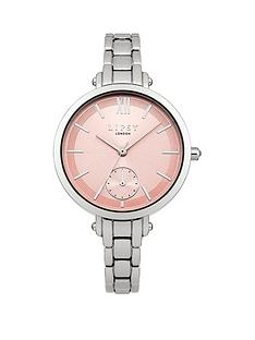lipsy-pink-sunray-dial-silver-tone-metal