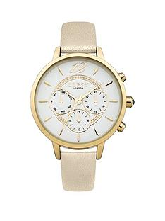 lipsy-lipsy-white-dial-gold-tone-printed-subdials-white-pu-strap-ladies-watch