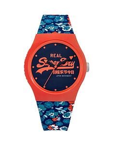 superdry-superdry-white-dial-coral-and-blue-floral-silicone-ladies-strap-watch