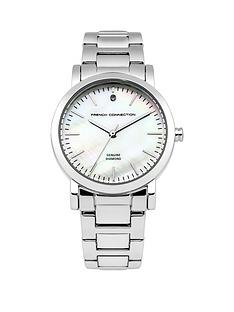 french-connection-french-connection-mother-of-pearl-dial-stainless-steel-polished-bracelet-ladies-watch