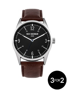 ben-sherman-matte-black-dial-brown-leathernbspstrap-mens-watch