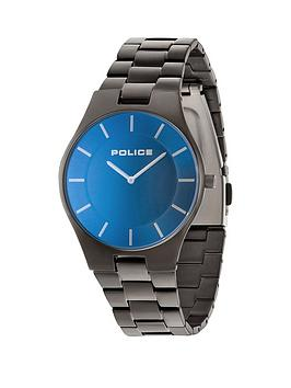 police-blue-dial-gunmetal-bracelet-mens-watch