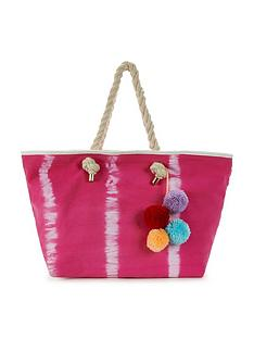 v-by-very-tie-dye-pom-pom-tassel-beach-bag