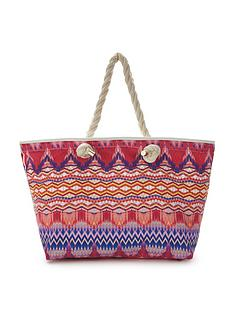 v-by-very-rio-chevron-print-beach-bag