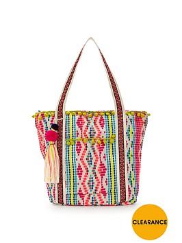 v-by-very-pom-pom-detail-beach-bag