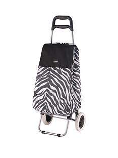 sabichi-zebra-print-2-wheel-trolley