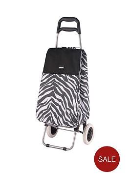 sabichi-zebra-print-2-wheel-trolley