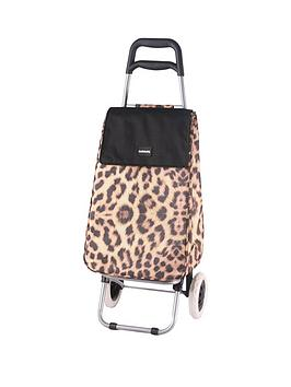 sabichi-leopard-print-2-wheel-trolley