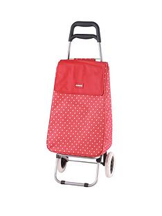 sabichi-sabichi-red-amp-white-spot-2-wheel-trolley