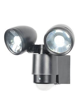 Zinc Scirocco 2 Light Led Pir Spot Light