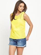 Cut-Work Shell Top