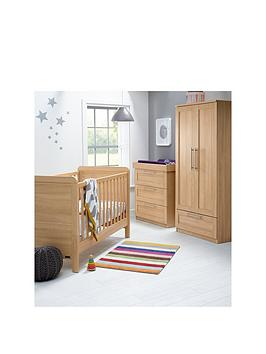 mamas-papas-rialto-cot-bed-dresser-amp-wardrobe-oak