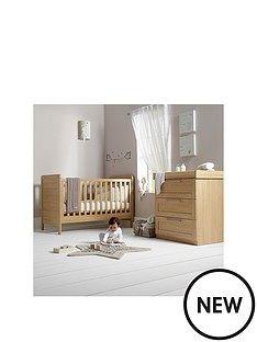 mamas-papas-rialto-cot-bed-and-dresser-oak