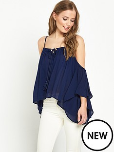 v-by-very-crinkle-strappy-cold-shoulder-blouse