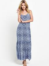 Ethnic Print Maxi Dress