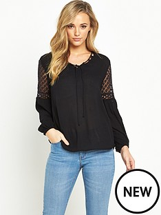 v-by-very-crochet-insert-sleeve-blouse
