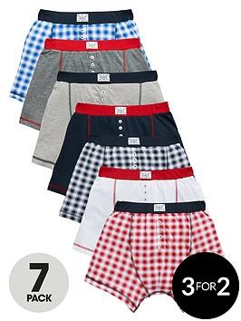 v-by-very-boys-check-boxers-7-pack