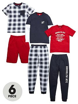 v-by-very-boys-brooklyn-pyjama-set-6-piece