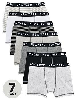 v-by-very-boys-stripe-marl-trunks-7-pack
