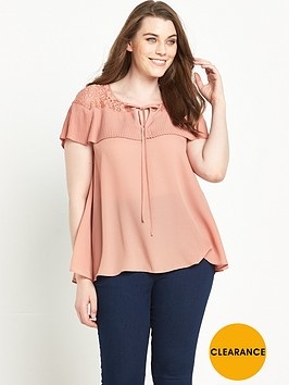 so-fabulous-pleat-and-lace-short-sleeve-blouse-14-28