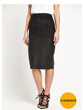 river-island-faux-suede-pencil-skirt