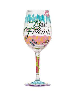 Lolita Best Friends Always Standard Wine Glass