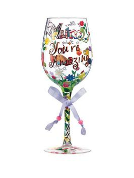 Lolita Mum Youre Amazing Standard Wine Glass