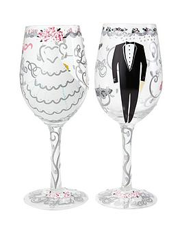 Lolita Happy Ever After Wine Glass Wedding Gift Set
