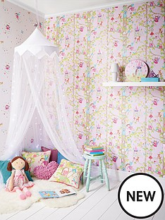 arthouse-woodland-fairies-glitter-wallpaper