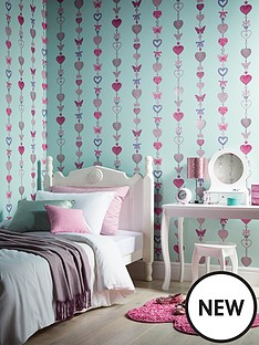arthouse-tiffany-stripe-glitter-wallpaper