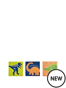 arthouse-funky-dino-set-of-3-canvases