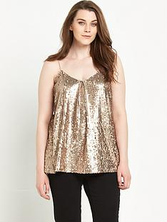 so-fabulous-pleat-front-sequin-cami