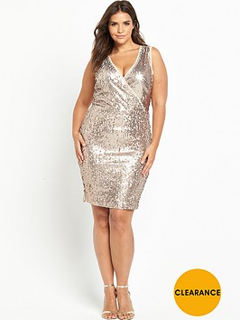 v-by-very-curve-knot-side-sequin-dress