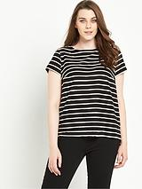 MONO STRIPE TIE BACK TOP