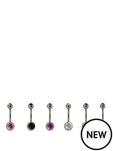 stainless-steel-set-of-6-coloured-cubic-zirconia-body-bars