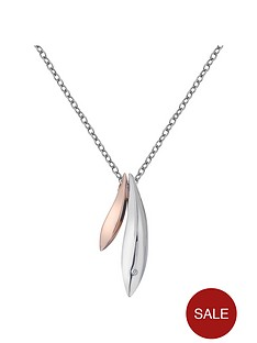 hot-diamonds-sterling-silver-leaf-pendant-with-rose-gold-plated-accents