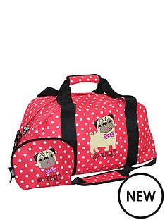 david-goliath-you-so-pugly-holdall-with-free-make-up-case-spot-print