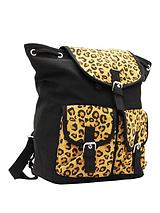 Canvas Backpack - Leopard Print
