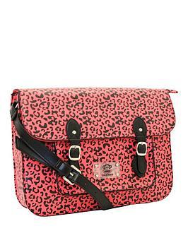 paul-frank-leopard-print-satchel-pink