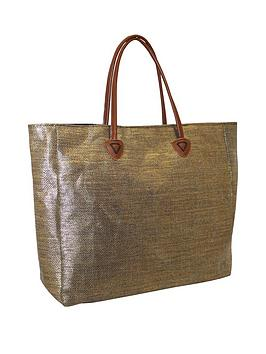 kangol-twin-handle-shopper-bag-ndash-gold