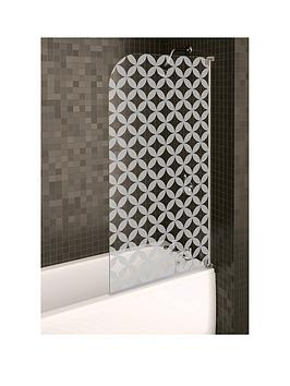 Aqualux Aqualux Half Framed Radius Geo Bath Screen